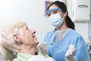 Photo of a dental hygienist